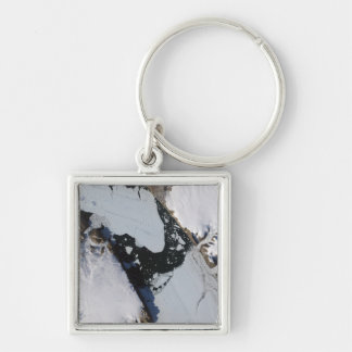 The ice island Silver-Colored square keychain