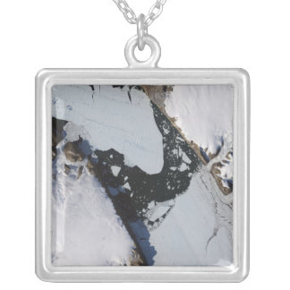 The ice island square pendant necklace