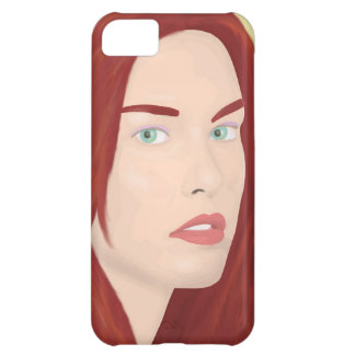 The ice princess - Red hair, green eyes Cover For iPhone 5C