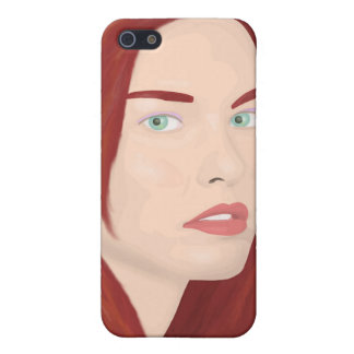 The ice princess - Red hair, green eyes Cover For iPhone SE/5/5s