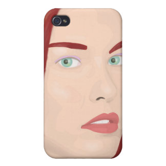 The ice princess - Red hair, green eyes iPhone 4/4S Cases