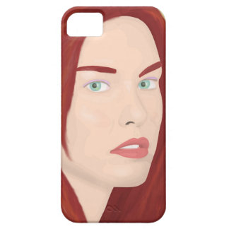 The ice princess - Red hair, green eyes iPhone SE/5/5s Case