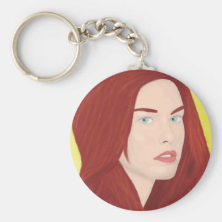 The ice princess - Red hair, green eyes Keychain