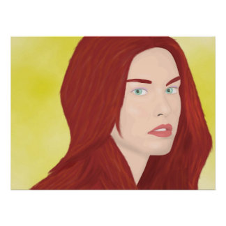 The ice princess - Red hair, green eyes Poster