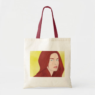 The ice princess - Red hair, green eyes Tote Bag