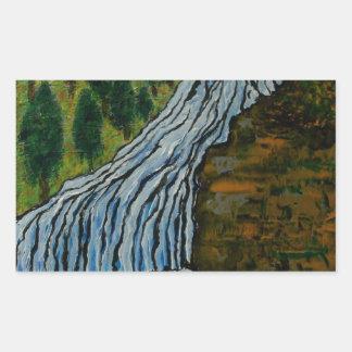 The Icebound Waterfall Rectangular Sticker