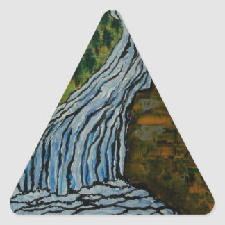 The Icebound Waterfall Triangle Sticker