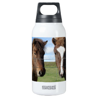 The Icelandic Horse - A Real Friend 10 Oz Insulated SIGG Thermos Water Bottle