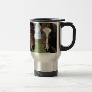The Icelandic Horse - A Real Friend 15 Oz Stainless Steel Travel Mug