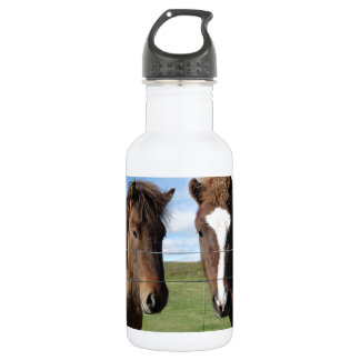 The Icelandic Horse - A Real Friend 18oz Water Bottle
