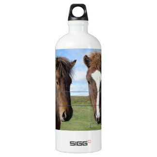 The Icelandic Horse - A Real Friend Aluminum Water Bottle