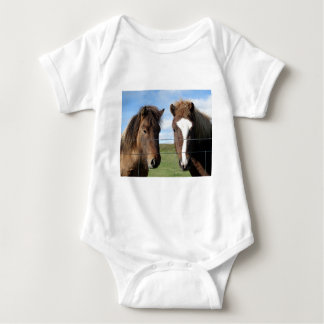 The Icelandic Horse - A Real Friend Baby Bodysuit