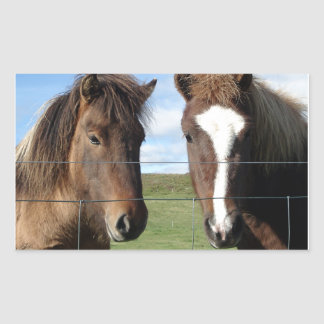 The Icelandic Horse - A Real Friend Rectangular Sticker