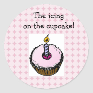 """The icing on the cupcake!"" Sticker Set"