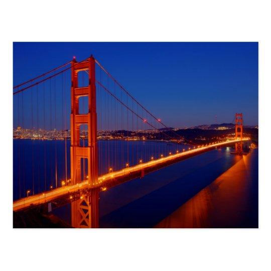 The iconic bridge with San Francisco Postcard