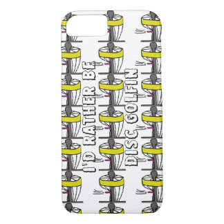 The I'd rather be disc golfin Iphone phone case