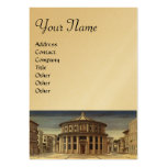 THE IDEAL CITY,gold metallic paper Large Business Card