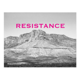The Ides of Trump Western Pink Resistance Postcard