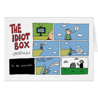 The Idiot Box by Sam Backhouse Card