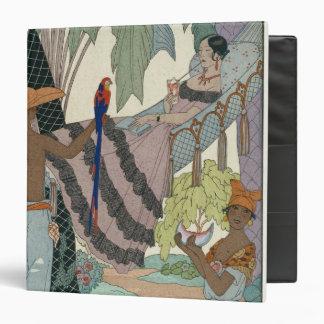The idle beauty (pochoir print) binder
