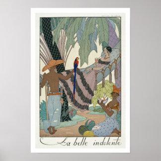 The idle beauty (pochoir print) poster