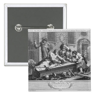 The Idle 'Prentice at Play in the Church Yard 2 Inch Square Button