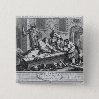 The Idle 'Prentice at Play in the Church Yard Pinback Button