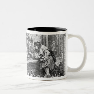 The Idle 'Prentice at Play in the Church Yard Two-Tone Coffee Mug
