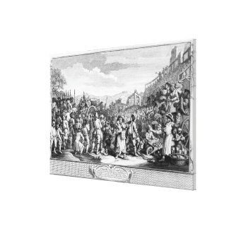 The Idle 'Prentice Executed at Tyburn Canvas Print