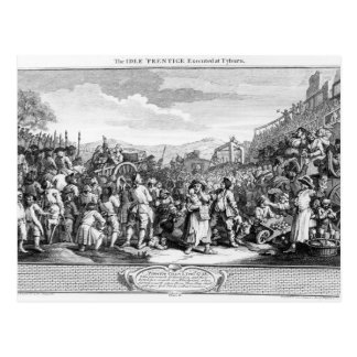 The Idle 'Prentice Executed at Tyburn Postcard