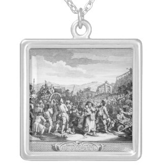 The Idle 'Prentice Executed at Tyburn Silver Plated Necklace