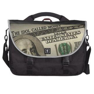 The Idol Called Money Laptop Messenger Bag