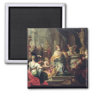 The Idolisation of Solomon, c.1735 (oil on canvas) 2 Inch Square Magnet