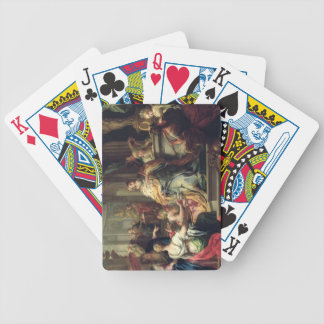 The Idolisation of Solomon, c.1735 (oil on canvas) Bicycle Playing Cards