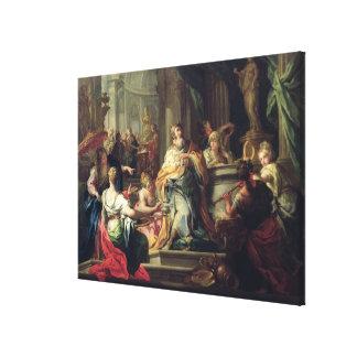 The Idolisation of Solomon, c.1735 (oil on canvas) Canvas Print