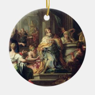 The Idolisation of Solomon, c.1735 (oil on canvas) Ceramic Ornament