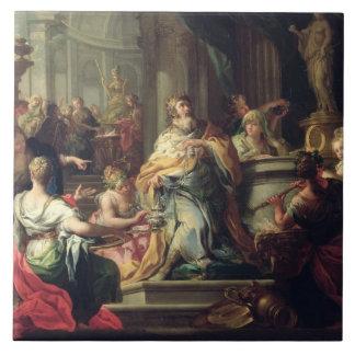 The Idolisation of Solomon, c.1735 (oil on canvas) Ceramic Tile
