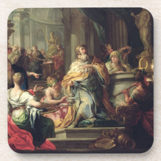 The Idolisation of Solomon, c.1735 (oil on canvas) Drink Coaster