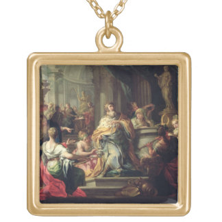 The Idolisation of Solomon, c.1735 (oil on canvas) Gold Plated Necklace