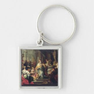 The Idolisation of Solomon, c.1735 (oil on canvas) Keychain