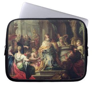 The Idolisation of Solomon, c.1735 (oil on canvas) Laptop Sleeves