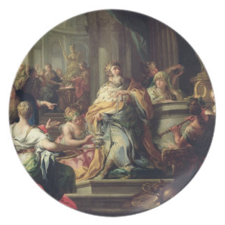 The Idolisation of Solomon, c.1735 (oil on canvas) Melamine Plate