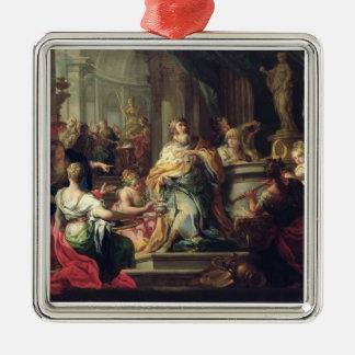 The Idolisation of Solomon, c.1735 (oil on canvas) Metal Ornament