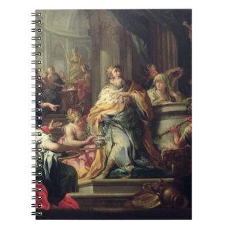 The Idolisation of Solomon, c.1735 (oil on canvas) Notebook