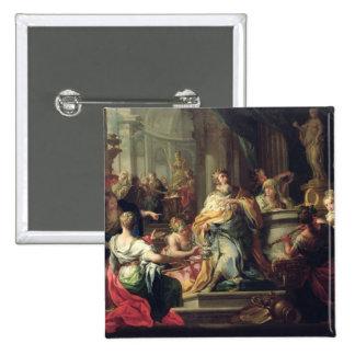 The Idolisation of Solomon, c.1735 (oil on canvas) Pinback Button