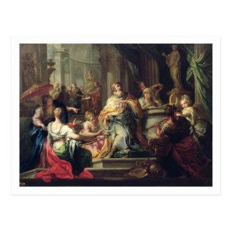 The Idolisation of Solomon, c.1735 (oil on canvas) Postcard