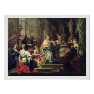 The Idolisation of Solomon, c.1735 (oil on canvas) Poster