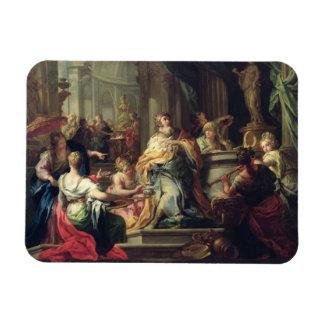 The Idolisation of Solomon, c.1735 (oil on canvas) Rectangular Photo Magnet