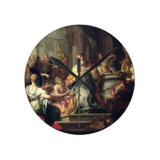 The Idolisation of Solomon, c.1735 (oil on canvas) Round Clock