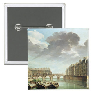 The Ile Saint-Louis and the Pont Marie in 1757 Pinback Buttons